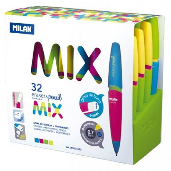 Карандаш механический Milan Capsule Mix Rubber Touch 2B ml.185021932, 0,7 мм