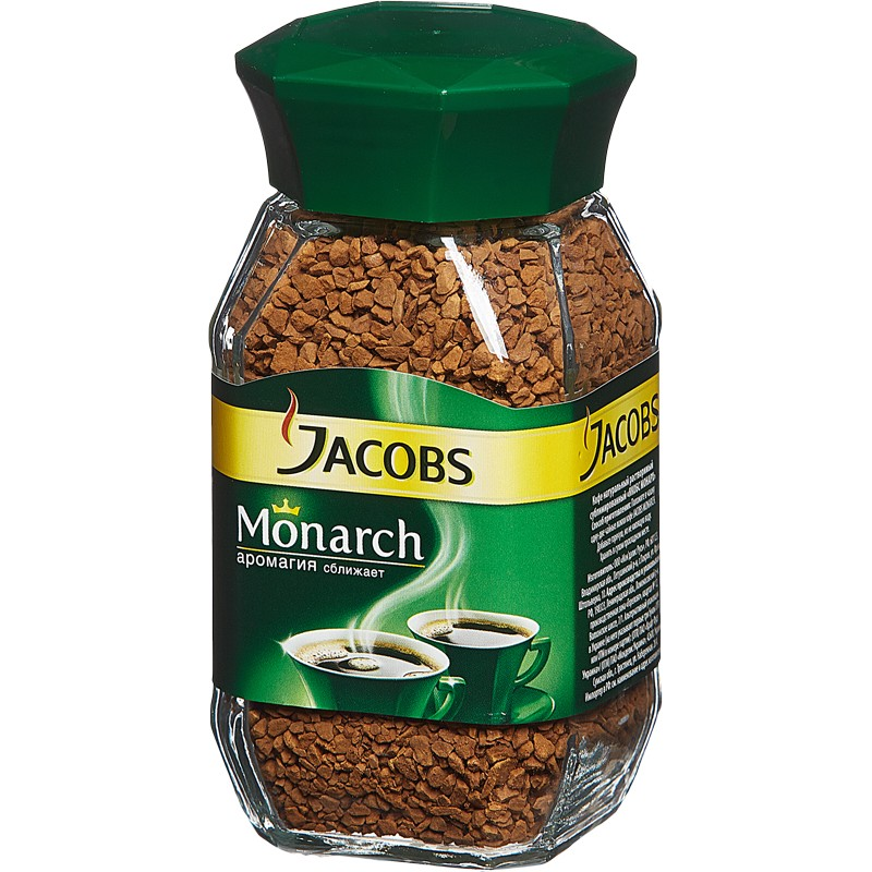 Кофе растворимый Jacobs Monarch, 200 г, стекло