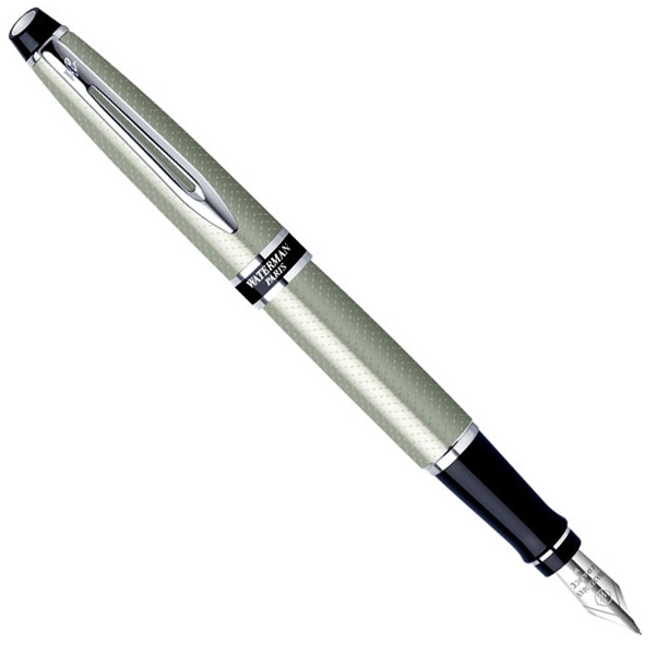 Ручка перьевая Waterman Expert Urban Silver CT FP F с чехлом 10 025