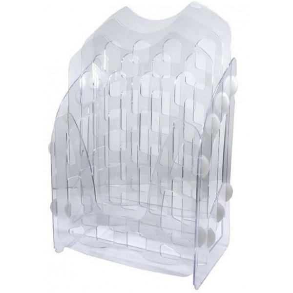 Лоток для бумаг вертикальный сборный серый ЛТ11