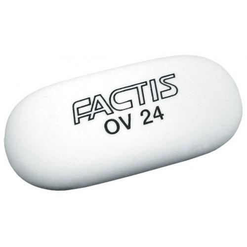 Ластик FACTIS мягкий из синтетического каучука в картонном держателе размер 50х23,5х9,5 мм