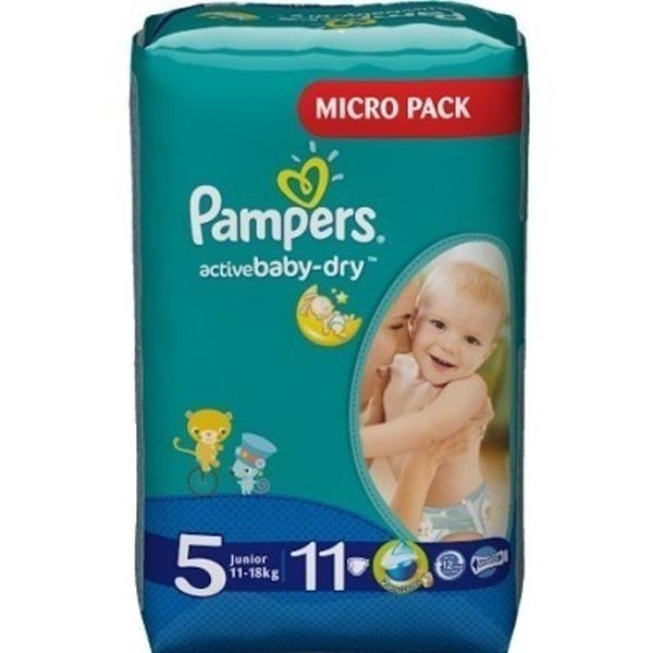 Подгузники Pampers Active Baby-Dry Размер 5 (Junior) 11-18 кг, 11 шт (4015400647577)