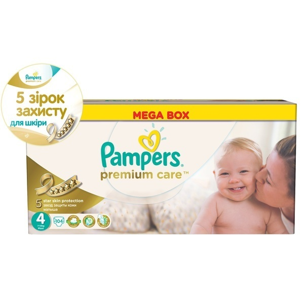 41fe24d17af7 Подгузники Pampers Premium Care Размер 4 (Maxi) 8-14 кг, 104 шт ...