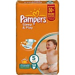 Подгузники Pampers Sleep & Play Размер 5 (Junior) 11-18 кг, 58 шт (4015400203582)