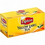 Чай черный Lipton Yellow Label, 25 пакетиков х 2г