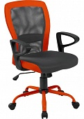 Кресло Office4You Leno Grey/Orange (27783)