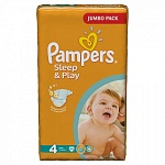 Подгузники Pampers Sleep & Play Размер 4 (Maxi) 8-14 кг, 68 шт (4015400203551)