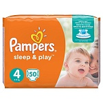 Подгузники Pampers Sleep & Play Размер 4 (Maxi) 8-14 кг, 50 шт (4015400224242)