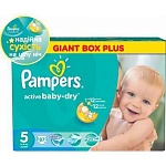 Подгузники Pampers Active Baby-Dry Размер 5 (Junior) 11-18 кг, 87 шт (4015400737353)